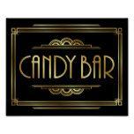 Gatsby Art Deco CANDY BAR Sign Print #weddinginspiration #wedding #weddinginvitions #weddingideas #bride