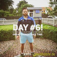 Day 6: Nach einer Woche schmerzt meine Schulter wie blöd. Das nervt gewaltig . Aber aufgeben ist keine Option. Jede Woche 4 Einheiten #freeletics Ergebnisse auf Facebook und Instagram. Warum? Weil es geht und Spaß macht!#mehrvomleben