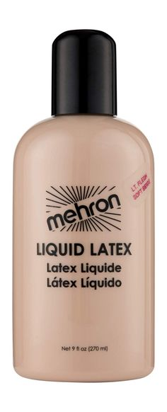 Mehron Makeup Liquid Latex (9 oz) (Light Flesh) * To view further for this item, visit the image link. (As an Amazon Associate I earn from qualifying purchases) Mehron Makeup, Liquid Makeup, Professional Face Paint, Bald Cap, Halloween Makeup Looks, Halloween Halloween, Zombie Makeup, Body Makeup, Body Painting