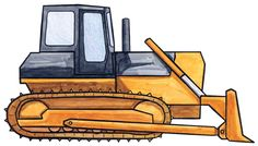 How to draw an orange bulldozer! Did you know that the modern-day bulldozer can push more than 70 TONS? Wow...
