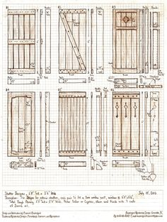 It looks like I'm going to be making some exterior shutters for a house this summer, so here's The Sunday morning design project: design six exterior sh. Six Exterior Shutter Designs House Shutters, Wood Shutters, Window Shutters, Exterior Shutters, Cottage Shutters, Outdoor Projects, Home Projects, Shutter Designs, Hurricane Shutters