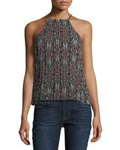 LIKELY KALEIDOSCOPE CHESTER HALTER TOP, MULTI. #likely #cloth #