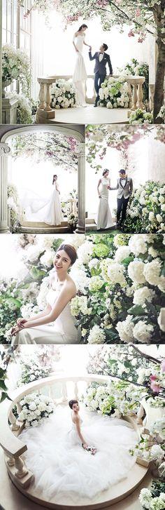 Floral / garden theme korean wedding photography concepts
