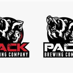 GWB Pack 鈥?20Create a beer label logo with a Grizzly bear, wolf, and badger