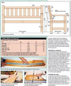 The Garden Bench Assembly Plans Wood working plans Pinterest