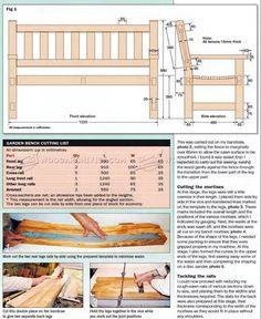 # 2770 Построить Сад скамьи - на открытом воздухе Мебель планы