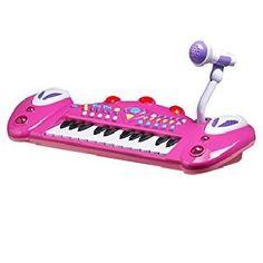 Kids Authority Multi-Function Children Piano/Keyboard /Microphone - Kids Karaoke Machine - Pink  List Price:$133.20 Price:$49.95 & FREE Shipping.  You Save:$83.25 (63%) In Stock. Barbie Games, Barbie Dolls, Kids Karaoke Machine, Keyboard, Piano, Author, Free Shipping, Toys, Children