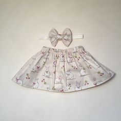 Handmade Sweet bunny rabbit skirt and by Mummyslittledolly on Etsy