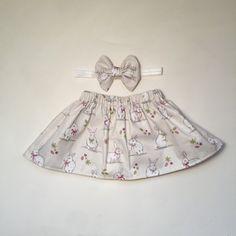 Handmade Sweet bunny rabbit skirt and by Mummyslittledolly on Etsy
