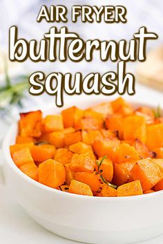 Air Fryer Butternut Squash is a healthy and delicious alternative to other cooking methods. The vegetable is often overlooked but it is a delicious side dish that children love too. The cooking time is cut in half and a little maple syrup is also added. Frozen Butternut Squash Recipe, Cut Butternut Squash, Air Fryer Recipes Videos, Spicy Cauliflower, Air Frier Recipes, Air Fryer Healthy, Soup And Salad, Maple Syrup, Vegetable Recipes