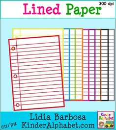 FREE Colorful Lined Paper is Clip Art for teachers and homeschoolers. These colorful graphics will make your printables and center activities and cover pages truly stand out. If you download this file, please follow my store for future clip art notifications.It includes:-11  graphics in png formatAvailable in black and white here.***  I truly appreciate your interest in my products.
