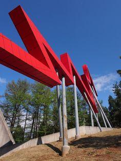 アウトサイドライン/ダニエル・リベスキンド。  「まちのかお」プロジェクト作品。なんと今をときめくスター建築家のリベスキンドですよ!建築っていうより現代アートのオブジェって感じだけど。