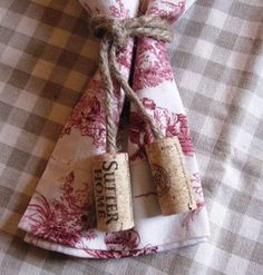 Wine Cork Napkin Ties