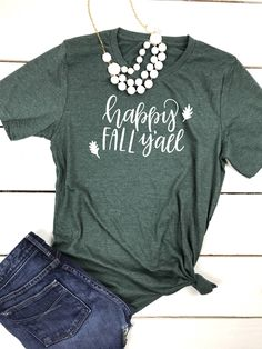 187a8a653 40 Best Fall T-Shirts images | Fall shirts, Autumn outfits, Fall clothes