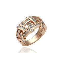 Golden Plating White Gold Austrian Crystal , Factory Price, Worldwide Free Shipping!