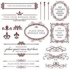 Vintage calligraphy clip art design style elements wedding wedding calligraphy clip art vintage clipart by maypldigitalart stopboris Choice Image