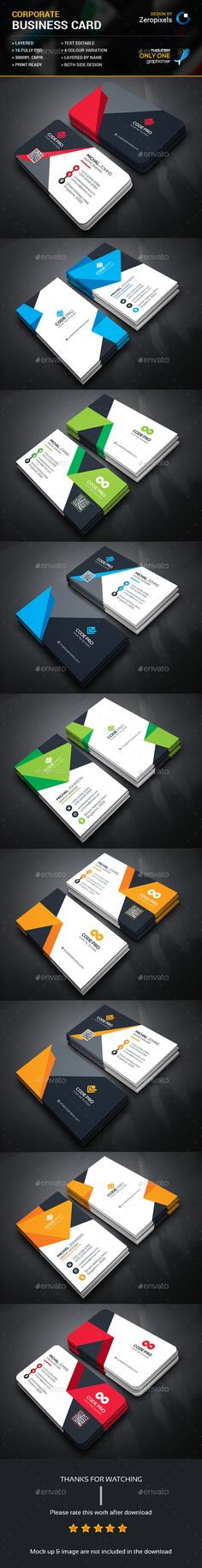 Corporate Business Card Bundle Templates PSD. Download here: http://graphicriver.net/item/corporate-business-card-bundle/16343673?ref=ksioks