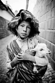 Quechua Girl, Cuzco, Peru.  In the Ccorca region, some children have to walk up to 8 hours each day to go to school www.amantani.org.uk