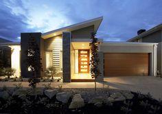 Interior and Exterior Designs & Ideas Modern House Facades, Modern Bungalow House, Modern Architecture House, Facade Architecture, House Roof Design, Facade Design, Facade House, Exterior Design, Modern Small House Design