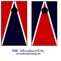University of Pennsylvania Cornhole Set by MIK Woodworking