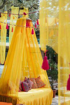 Photo from Anjali & Albert Wedding Wedding Hall Decorations, Desi Wedding Decor, Diy Wedding Backdrop, Backdrop Decorations, Mehendi Decor Ideas, Mehndi Decor, Haldi Ceremony, Background Decoration, 3d Home
