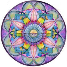 Final de Dolor Mandala - Mandala Platos De arte