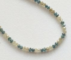 Blue & Yellow Sparkling Diamonds Faceted Diamond by gemsforjewels