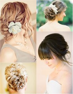 flattering and beautiful updo hair for wedding in autumn with clip in medium wavy silky hair extensions