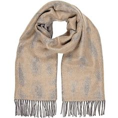 Pale grey leopard print scarf - scarves - accessories - women