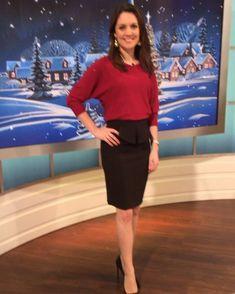 "db61d2611 Debbie Harper on Instagram: ""@gmb #christmasspirit Laura Tobin wearing  @monsoonuk top @missselfridge skirt @nextofficial shoes!"