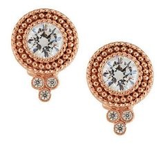 Shine in a stunning designer look with these 14K gold-clad sterling silver Dew Drop button earrings.