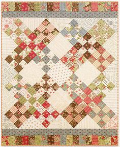 Quilt Pattern DOC Moda MISS ROSIE/'S SCHNIBBLES Charm Pack Friendly