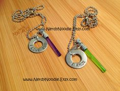 Star Wars inspired I love you  I know necklace  2 by NerdyNoodle, $16.00