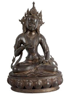 Nepal 19. Jh. Bronzefigur - A Nepalese Bronze Figure of Vajrapani - Népalais