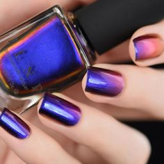 Our gorgeous Ultra Chrome, Cygnus Loop! This stunner shuffles through a vibrant deep blue, bright purple, to orange, and even yellow depending on your lighting and angle!  Available worldwide on ILNP.com! #ILNPCygnusLoop