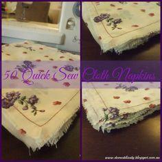 Domesblissity: 50 Quick Sew Cloth Napkins