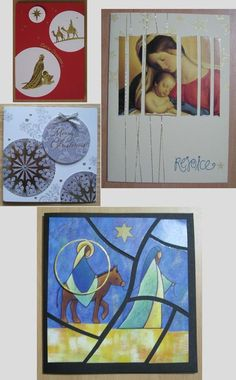 Recycling Christmas Cards with Karen - I have three strategies: circles, strips, or mosaic tiles.: