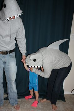 Shark and Scuba Costume