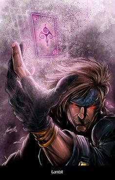 Oneof my Favorite X-Men - The always sarcastic Gambit Marvel Dc Comics, Gambit Marvel, Gambit X Men, Rogue Gambit, Marvel Heroes, Comic Book Characters, Comic Book Heroes, Marvel Characters, Comic Character