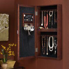 Elizabeth Wall Mount Jewelry Box.