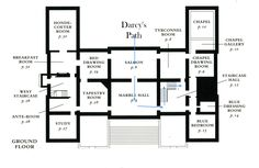 Modern plan of Belton House, courtesy of the Nat'l Trust