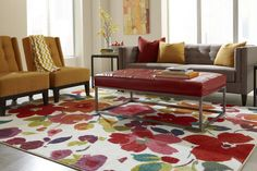 Online #Area #Rug Store with Delightful Colors & Floral Designs, Give your home a Veritable and classic look with the #Floral / #Tropical  Style Rugs. Floral rugs were originally made up of Hard Fine-Twist Wool Blend and Nylon Material.
