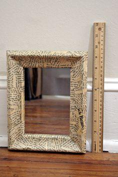 decoupage mirror frame