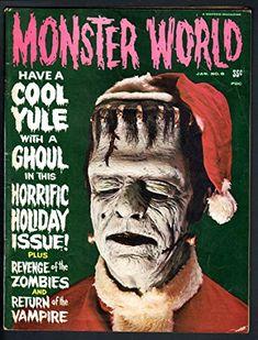 MONSTER WORLD #6-1965-FRANKENSTEIN CHRISTMAS COVER-TARANTULA-VAMPIRE-ZOMBIE VG @ niftywarehouse.com #NiftyWarehouse #Frankenstein #Halloween #Horror #HorrorMovies #ClassicHorror #Movies