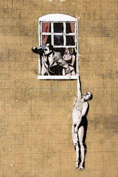 Banksy-Naked Man