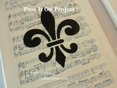 stenciled sheet music canvases by decor and more