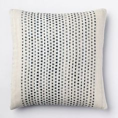 Embroidered Dot Silk Pillow Cover - Blue Lagoon #westelm