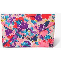 FOREVER 21 Floral Envelope Clutch ($22) ❤ liked on Polyvore