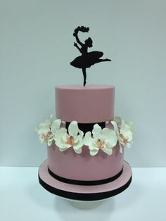 Manals Cakes - Ballerina silhoutte and orchids