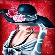New Fashion Drawing Hat Hollywood Glamour Ideas Arte Fashion, Art Deco Fashion, Drawing Hats, Images D'art, Art Afro, Pop Art, Image 3d, Art Deco Stil, Art Vintage